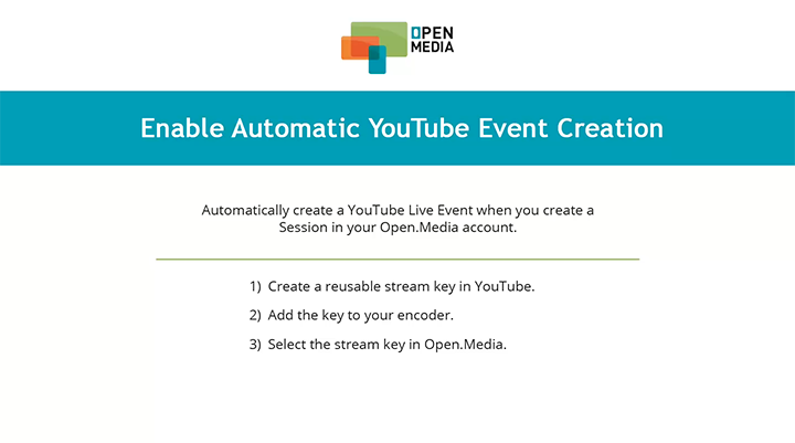 Automatic YouTube Event creation thumbnail
